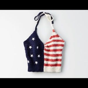 American eagle American flag halter top